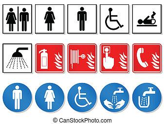 International communication signs. - Vector illustration set...