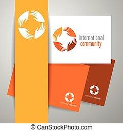 international community - International community. Logo...