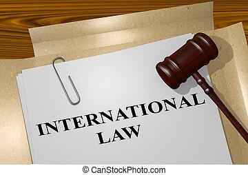 international, concept, droit & loi
