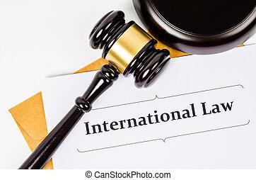 international, concept., droit & loi