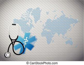 international, concept, santé