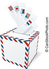 International correspondence, letterbox concept