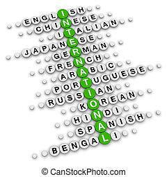 international crossword puzzle
