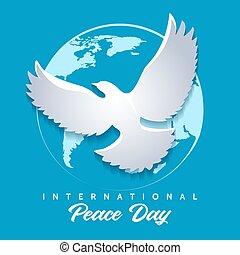 International Day of Peace Emblem. Vector illustration