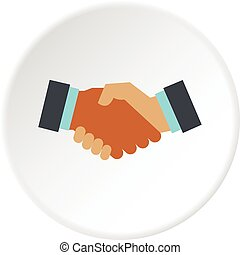 International deal icon circle
