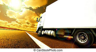International delivering goods trailer