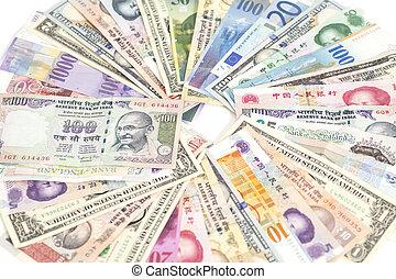international, devises, isolé
