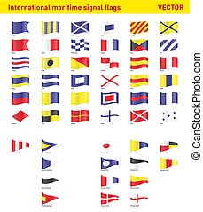 international, drapeaux signal, maritime
