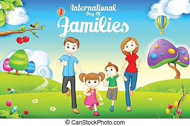 international, familles, jour