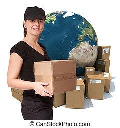 International female courier