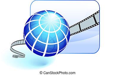 International film festival background