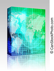 International finance background box package