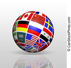 International Flags Globe