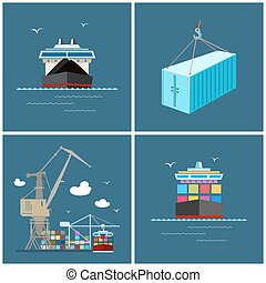 International Freight Transportation, Cargo Icons