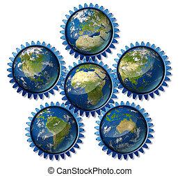 international-global-trade-earth-econamy-map - Global ...