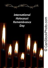 International Holocaust Remembrance Day. 27 January. Hebrew. Vector illustration