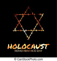 International holocaust remembrance day background. Vector Illustration EPS10