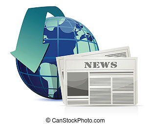 international, illustration, nouvelles