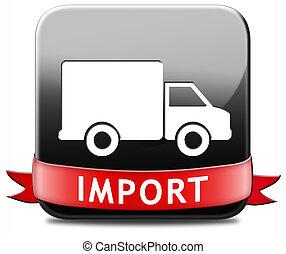 international, importation, commercer