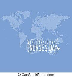 international, infirmières, jour