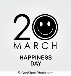 international, jour, bonheur