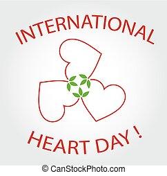 international, jour, carte, coeur