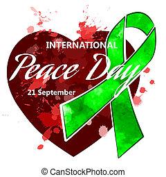 international, jour, de, paix