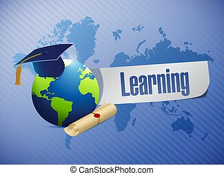 international learning concept sign