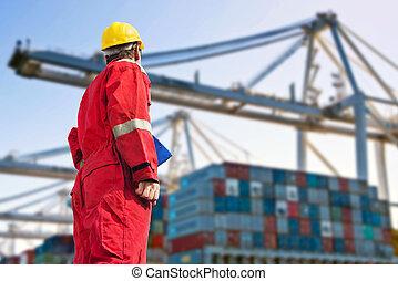 International Logistics - Conceptual image of international...