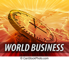 World international business time logistics management concept background
