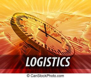 International logistics management concept
