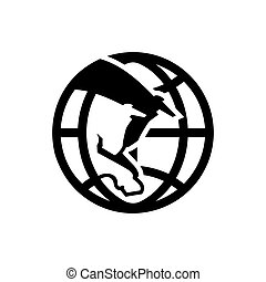 International meat trade sign - Branding identity corporate...