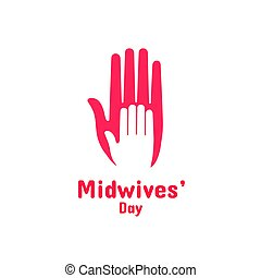 International Midwives Day, May 5. Vector design element....