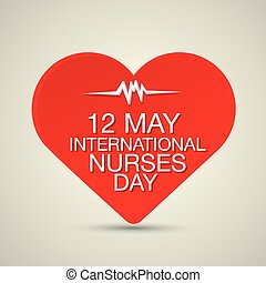 International nurse day concept with heart - International...