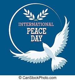 international, paix, emblème, jour