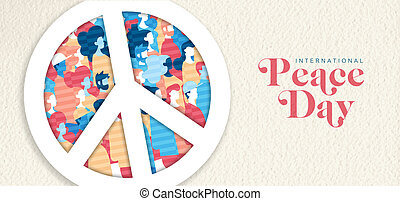 International Peace Day banner for people freedom