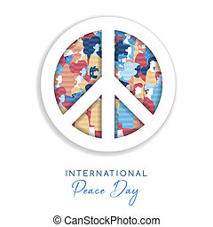 International Peace Day card for people freedom