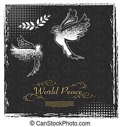 International Peace Day grunge poster design