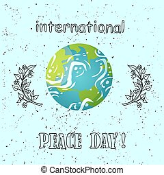 International Peace Day Poster Planet Greeting