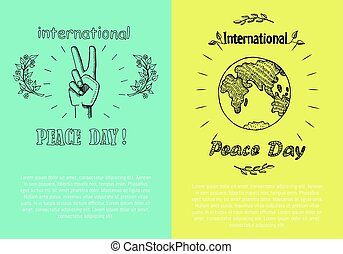 International Peace Day Poster Vector Illustration
