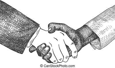 international, poignée main, business