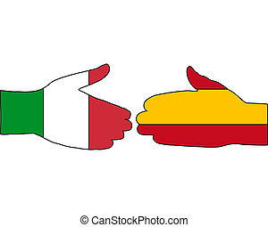 international, poignée main
