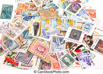 International postage stamps - Collection of vintage ...