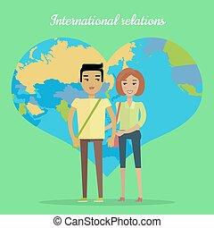 International Relations Flat Design Vector Concept