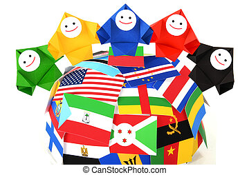 Conceptual image of international relations, peace, and cooperation