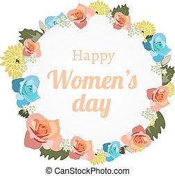 international, s, bannière, jour, femmes