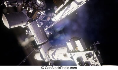 International Space Station in outer space. Elements of this...