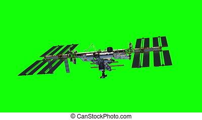 International Space Station Rotates Solar Panels On Green ...