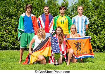 International sport team - International sports team with...