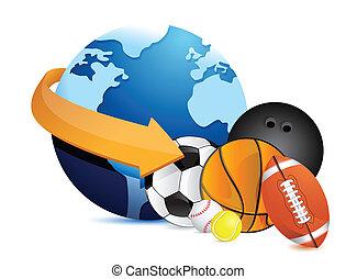 International sports concept